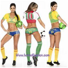 Www.hotredfashion.com #brasilworldcup #outfit Cute Fashion, Bikinis, Swimwear, Sexy Women, Bra, Sports, Outfits, Bathing Suits, Hs Sports