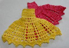 Passo a Passo Vestido de Crochê para Aplicação - Barrado - Parte 4 (últi...