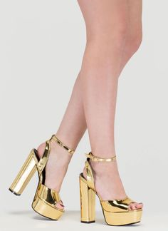 ea93fe50f4f Channel your fave seventies bae in these chunky platform heels!