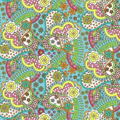 Liberty Lifestyle - Bloomsbury Collection - Virginia - Colourway B - Liberty Fabric, Liberty Print, Pastel Colour Palette, Pastel Colors, Cotton Crafts, Fabric Crafts, Pretty Patterns, Fun Patterns, Vanessa Bell