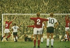 England 4 West Germany 2 in 1966 at Wembley. Martin Peters scores in the World Cup Final. 1966 World Cup Final, Martin Peters, England International, England Shirt, World Cup Match, British Football, World Cup Winners, England Football, Soccer
