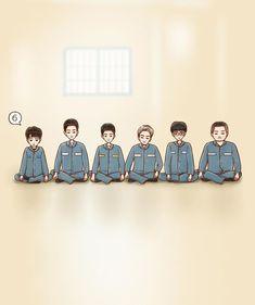 Cartoon Wallpaper, Bts Wallpaper, Drama Gif, Prison Life, Kdrama Memes, Korean Art, Drama Movies, Lovers Art, Chibi