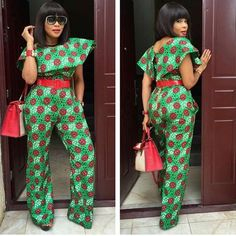 Most Stylish Ankara Styles 2 African Dresses For Women, African Attire, African Wear, African Women, African Tops, African Outfits, African Print Jumpsuit, Ankara Jumpsuit, Jumpsuit Dress