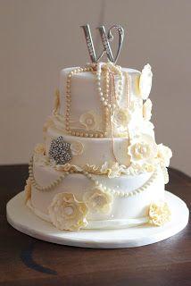 Ivory Vintage Wedding Cake