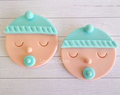 Items similar to Baby Boy Shower Cupcake Fondant Edible Toppers, Gender Reveal Party, Baby Shower Decor, Birthday Party, Baby Face Edible Toppers on Etsy Baby Boy Shower Cupcake Fondant Toppers Gender by LenasCakes Fondant Cupcakes, Baby Boy Cupcakes, Cupcakes For Boys, Fondant Baby, Fondant Toppers, Cake Baby, Baby Doll Cake, Gateau Baby Shower, Baby Shower Cupcake Toppers