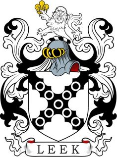 Leek Family Crest and Coat of Arms