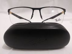 861dd63d48 Ray Ban RB 6335 color 2890 (black   gold) size 56-17-145 NEW   AUTHENTIC   fashion  clothing  shoes  accessories  mensaccessories ...
