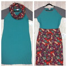 Two outfits in One! Lularoe Julia & Cassie Skirt