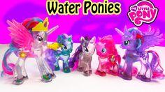 My Little Pony Water Ponies Set Princess Celestia, Diamond Mint, Rarity, Pinkie Pie and Princess Luna