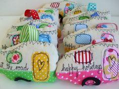 Retro caravans - lavender hangers  £10.00 By Edie Sloane