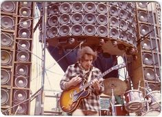 Bob Weir in front of the Wall of Sound 16th June 1974