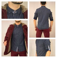 Men's classic style! Ανδρικό πουκάμισο με τύπωμα σε μπλε χρώμα.  #metal_deluxe #mens_clothes #winter #new_arrivals #winter_clothes #shirt #mens_shirt #style