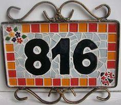 Casa, Quintal, Etc & Tal: Passo a Passo...Número da casa em mosaico!