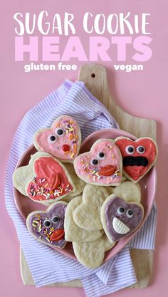 Roll out your love this Valentine's Day with these gluten free Sugar Cookie Hearts, made safe for the loves in your life who have certain food allergies.