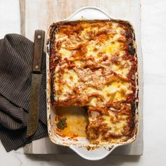 Holy healthy lasagna. Don't deprive yourself of this veggie-filled dish-- get the recipe now! http://recipes.womenshealthmag.com/Recipe/swiss-chard-eggplant-and-mushroom-lasagna.aspx?cm_mmc=Pinterest-_-womenshealth-_-content-food-_-potlucklasagna