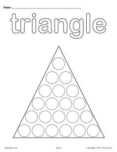 These twelve shapes Do A Dot printables are great for toddler age, preschool, and kindergarten. Each shapes worksheet included not only helps with shape recognition, but they are also great for. Preschool Lesson Plans, Preschool Themes, Preschool Printables, Preschool Worksheets, Preschool Learning, Preschool Activities, Shape Activities, Teaching, Shapes For Kids