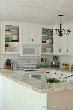 Pretty farmhouse kitchen The Frugal Homemaker Kitchen On A Budget, Diy Kitchen, Kitchen Design, Kitchen Decor, Kitchen Cupboard, Kitchen Ideas, Kitchen Cabinets Repair, Laminate Cabinets, Luxury Homes Interior