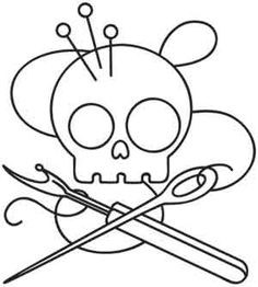 Skully Stitcher | Urban Threads: Unique and Awesome Embroidery Designs