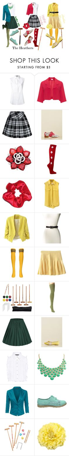 """""""The Heathers outfit"""" by secondhandbag on Polyvore featuring Dolce&Gabbana, Peony & Moss, Bettie Page, Marissa Webb, Sunnylife and Rockwood"""