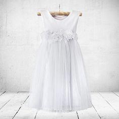 Tinkerbelle flower-girl, christening or party dress in white. Little Miss Little Miss Dress, Girl Christening, Special Occasion Dresses, Off White, Party Dress, White Dress, Flower Girl Dresses, Wedding Dresses, Rose