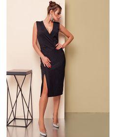 Rochie dungi Camelia Office Dresses, Office Outfits, Peplum Dress, Wrap Dress, Office Fashion, Fashion Dresses, Office Style, Clothes, Fashion Show Dresses