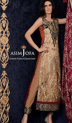 Suit Consists of: 1.5 Meter Embroidered Net Front, 2 Meter Embroidered Border, 1.5 Meter Dyed Slip Fabric, 1 Meter Tonal Dyed Net for Sleeves, 1.5 Meter Back Fabric, 2.5 Meter Trouser FabriC, 2.5 Meter Printed Premium Silk Dupatta. Available at: www.jahnaracollections.com