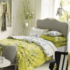 tricia-guild, gorgeous, love the curved footboard.