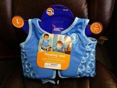 Sun And Sky Blue Boy's Toddler's Large Training/Floating Swim Vest #SunAndSky