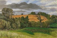 Ripe Corn by John Northcote Nash 1946 Oil on Canvas (Government Art Collection) Landscape Paintings, Landscape Artist, Your Paintings, Painting, British Art, Aberdeen Art Gallery, Art Uk, English Artists, Landscape Art