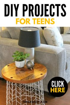 Quarantine isn't fun but you can make it a little bit better for the kids with some fun indoor activities to keep them occupied. If you have a teenager, check out our list of 22 cool DIY projects for teens for some great ideas.  #thesawguy #indooractivities #diyproject #quarantineideas #diyforteens #diyfurniture Woodworking Projects For Kids, Diy Projects For Kids, Backyard Projects, Garden Projects, Project Ideas, Fun Indoor Activities, Handmade Wooden Toys, Portable House, Diy For Teens