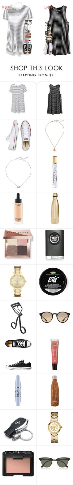 """Karina and Lydia"" by lydia-hh ❤ liked on Polyvore featuring MANGO, Converse, Kendra Scott, AERIN, MAC Cosmetics, S'well, Bobbi Brown Cosmetics, Kate Spade, Surratt and Ray-Ban"