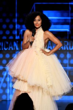 f1707cbcb1 All of Tracee Ellis Ross s Looks to Host the AMAs Feature Black Designers