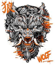 Wolf Tattoos, Hand Tattoos, Sleeve Tattoos, Graffiti Wallpaper, Graffiti Art, Graphic Design Illustration, Illustration Art, Japanese Wallpaper Iphone, Spooky Tattoos