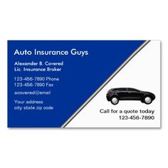 Auto insurance business card pinterest insurance business auto insurance business cards reheart Gallery