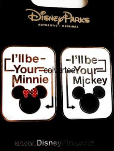 Disney Pin I'll be your Minnie and I'll be your Mickey 2 Pin Set  New on Card