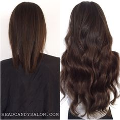 "Before And After 22"" Tape Hair Extensions #tapehair #tapeextensions #hairextensions #torontoextensions"
