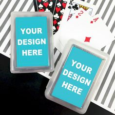 Custom playing card set with your own sticker design. Create your own personalized playing cards party favors. Make Playing Cards, Custom Playing Cards, Custom Cards, Custom Stickers, Personalized Playing Cards, Personalized Party Favors, Wedding Shot Glasses, Create Your Own Case, Inexpensive Wedding Favors