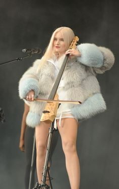 Grace Chatto of Clean Bandit performs at Glastonbury