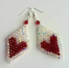 Quick Wire and Crystal Valentine Earrings to Wow! - The Beading Gem's Journal