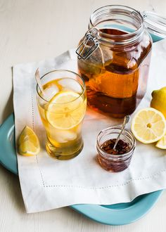 Herbal Sun Tea for lazy summer days! Use your favorite herbal teas (loose or bags), and sweeten with stevia if you like.