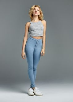 Looking for the spray-on effect? Let #haileybaldwin inspire your new jeans. #joni #denim #meetyournewjeans