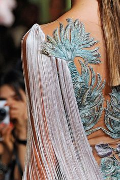 """Marchesa spring 2012 """"And the LORD said to Moses, """"Go to the people and consecrate them today and tomorrow. Have them wash their clothes."""" Exodus 19:10"""
