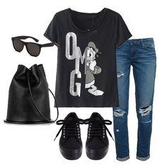 Black Short Sleeve Donald Duck Print T-Shirt