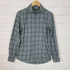 Mens King Size 100/% Cotton Flannel Shirt Gray NIP Medium Weight