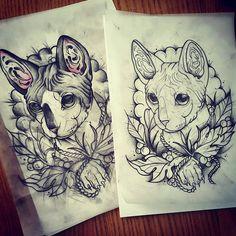 Tattoo de mi gatete para la persona mas especial del mundo..Ella en…
