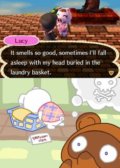 ACNL - Lucy and Baskets by MorningPanda on DeviantArt Animal Crossing Fan Art, Animal Crossing Memes, Animal Games, My Animal, Funny Animals, Cute Animals, Ac New Leaf, All Meme, City Folk