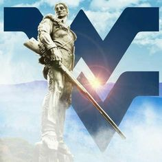 Mountaineer with flying WV logo Mountaineers Football, Football Memes, Football And Basketball, College Football, Morgantown West Virginia, West Virginia University, Wv Logo, Pittsburgh Steelers Wallpaper, Wvu Sports