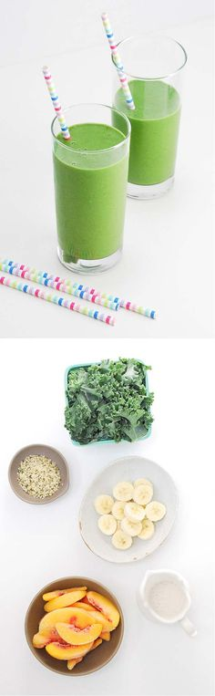 Kale and Peach Green Smoothie Recipe