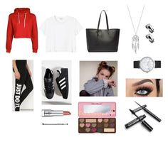 """""""2day 2"""" by itslydiahere ❤ liked on Polyvore featuring Boohoo, NIKE, Monki, adidas, Yves Saint Laurent, Lucky Brand, Elwood, Too Faced Cosmetics and Trish McEvoy"""