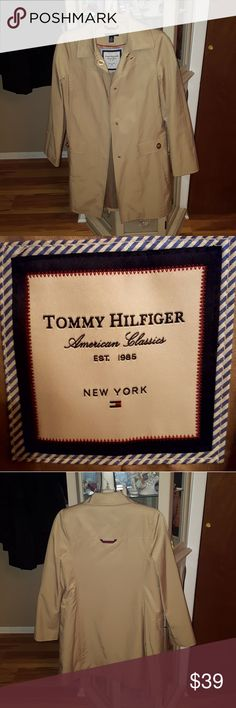 Brand new Tommy Hilfiger trench coat Never worn khaki Tommy Hilfiger trench coat in perfect condition Tommy Hilfiger Jackets & Coats Trench Coats